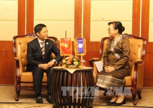 越南与老挝加强贸易领域合作 hinh anh 1