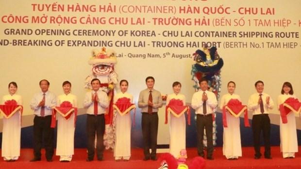 越南广南省开通朱莱至韩国海运集装箱航线 hinh anh 1