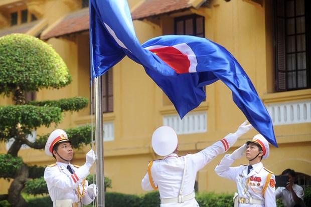 2016年东盟升旗仪式在河内举行 hinh anh 1
