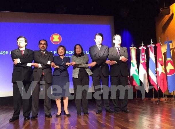 越南驻阿根廷大使馆主持东盟成立49周年纪念典礼 hinh anh 1