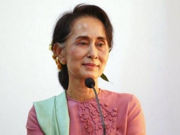 缅甸国家顾问呼吁该国各方团结实现永久和平 hinh anh 1