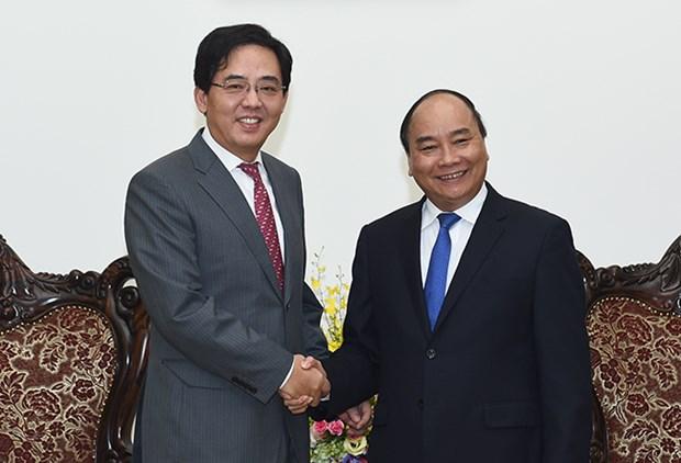 越南政府总理阮春福会见中国驻越大使洪小勇 hinh anh 1