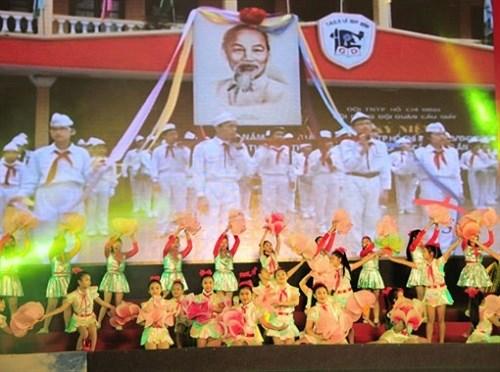 越南全国青年纷纷举行多项活动庆祝九•二国庆71周年 hinh anh 1