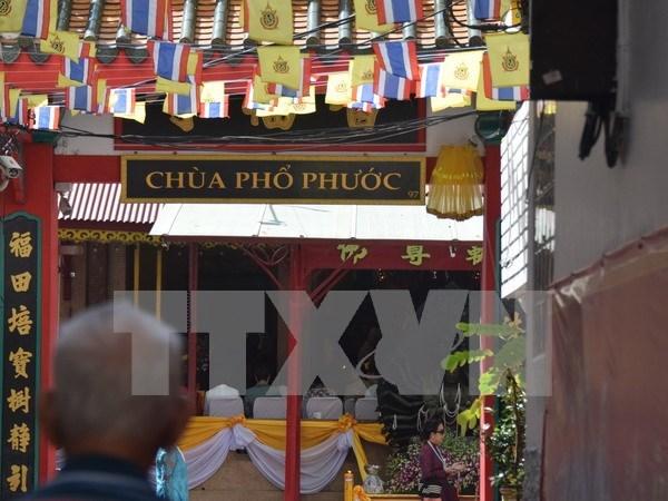 泰国两座越南寺庙新加悬挂越南语牌匾 hinh anh 1
