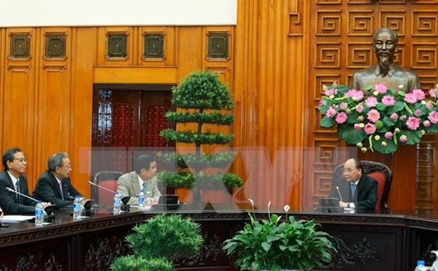 越南政府总理阮春福会见日本经济组织联合会代表团 hinh anh 1