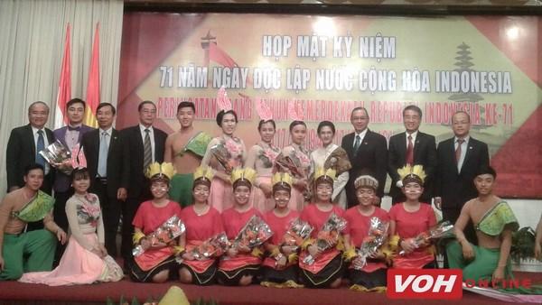 印尼独立71周年纪念典礼在胡志明市举行 hinh anh 1