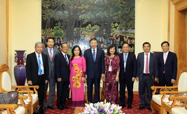 越南公安部部长苏林会见美国客人 hinh anh 2
