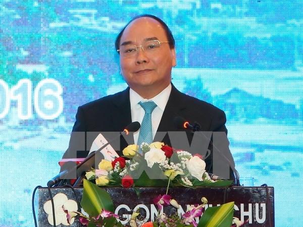 阮春福总理出席宁顺省投资促进会议为企业创造发展空间 hinh anh 1
