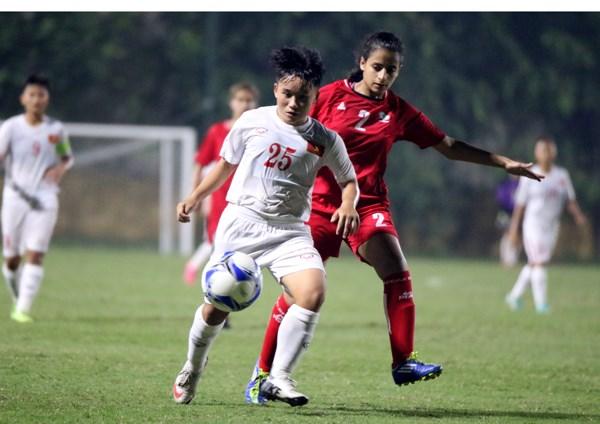 2017年亚洲U16女足锦标赛预选赛:越南队狂屠巴勒斯坦队 hinh anh 1