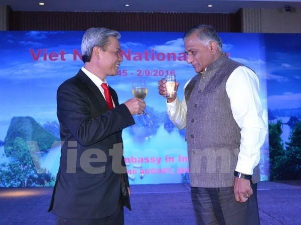 越南驻印度大使馆举行庆祝9•2国庆71周年活动 hinh anh 1
