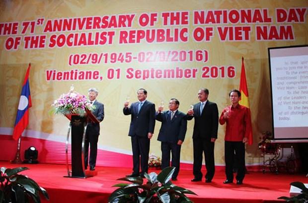 越南驻外使领馆陆续举行活动庆祝国庆71周年 hinh anh 1