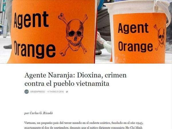 阿根廷媒体揭露美国橙剂对越南造成的恶劣影响 hinh anh 1