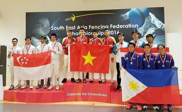 2016年东南亚击剑锦标赛:越南队共获5金 hinh anh 1