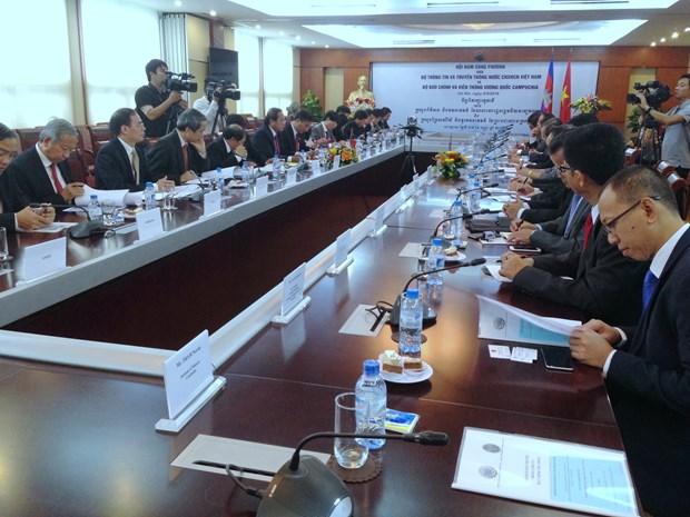 进一步加强越柬两国信息邮政领域合作 hinh anh 1