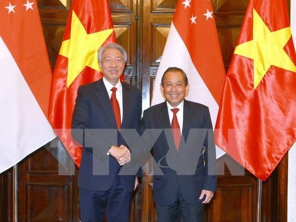 新加坡副总理张志贤对越南进行正式访问 hinh anh 1