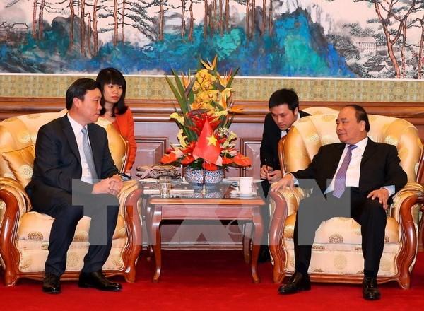 阮春福总理会见中国基础设施建设大型企业领导 hinh anh 1