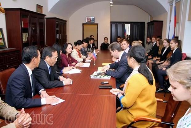 越共中央民运部部长张氏梅结束对俄罗斯的访问之旅 hinh anh 1