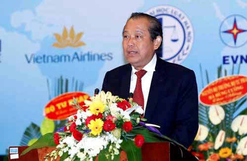 张和平副总理出席越南国际法协会成立大会 hinh anh 1