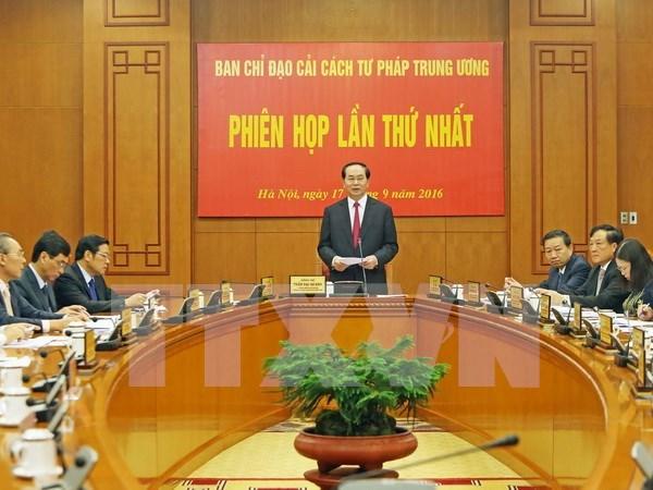 国家主席陈大光出席越共中央司法改革指导委员会第一次会议 hinh anh 1