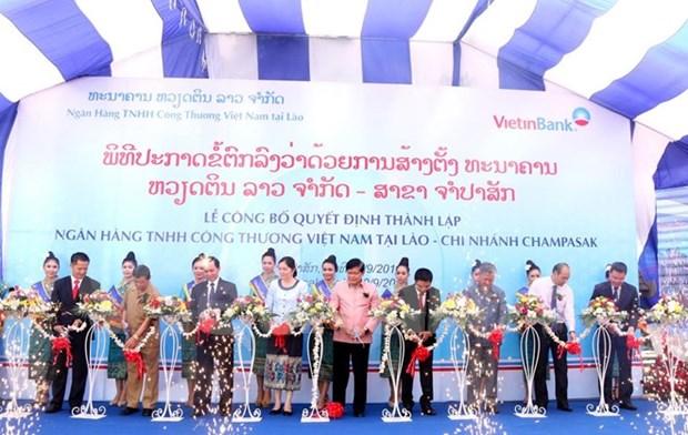 越南工商银行老挝南部占巴塞省分行开业仪式 hinh anh 1