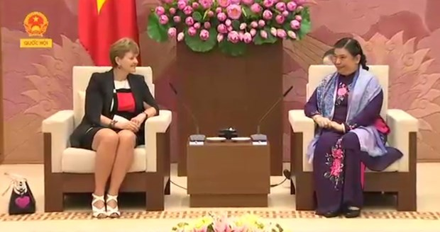 越南国会副主席丛氏放会见丹麦议会代表团 hinh anh 1