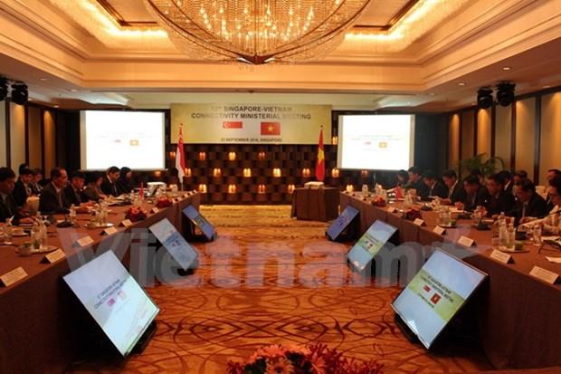 越南与新加坡继续加强双边经贸合作关系 hinh anh 1