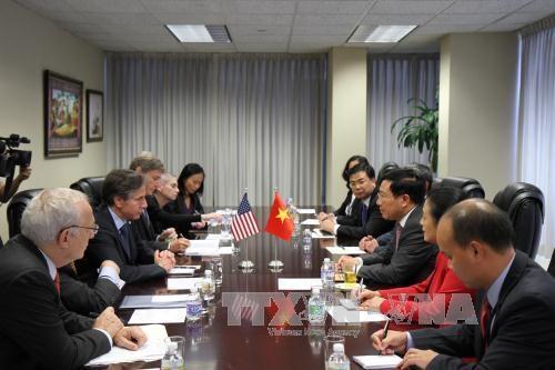 越南政府副总理兼外长范平明出席东盟与美国外长非正式会议 hinh anh 1