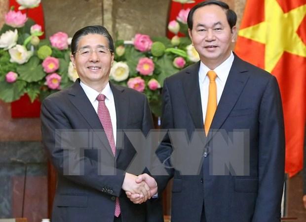 越南国家主席陈大光会见中国公安部部长郭声琨 hinh anh 1