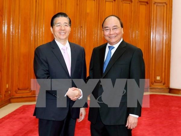 越南政府总理阮春福会见中国公安部部长郭声琨 hinh anh 1