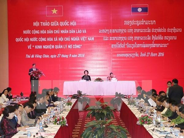 越老两国国会分享公债管理经验 hinh anh 1