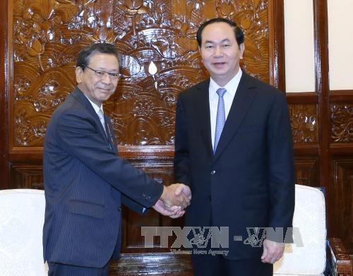 国家主席陈大光会见日本驻越大使大岛浩 hinh anh 1