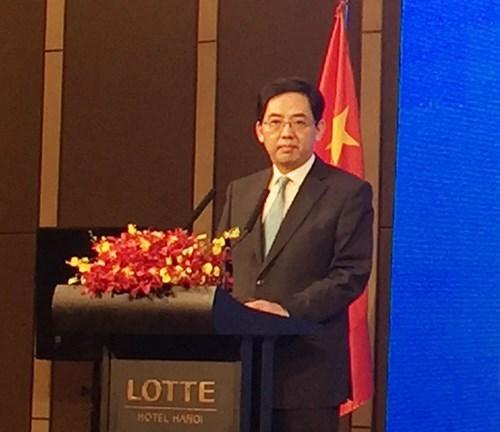 中国驻越南大使馆举行中国国庆67周年招待会 hinh anh 1