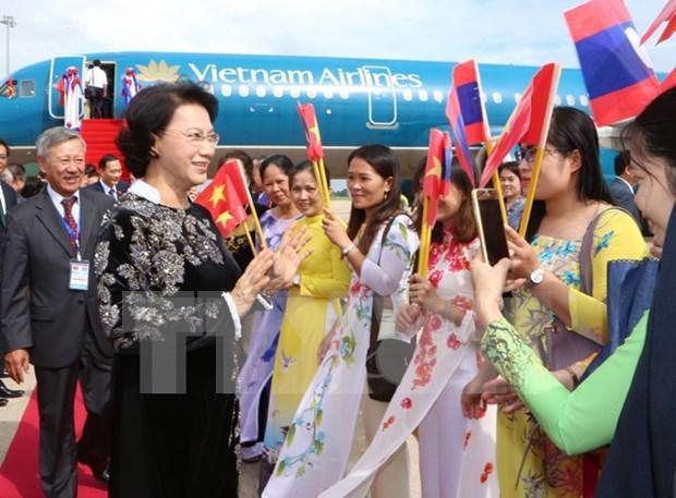 越南国会主席阮氏金银对柬埔寨进行正式友好访问 hinh anh 1