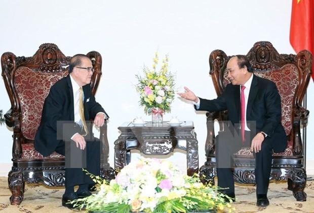 越南政府总理阮春福会见马来西亚上议院前议长丹·斯里·曾永森 hinh anh 1