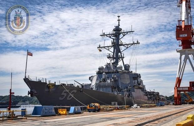 美国海军第七舰队军舰访问越南岘港市 hinh anh 1