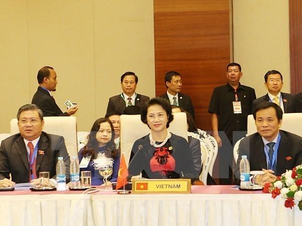 第37届东盟议会联盟大会落下帷幕并通过由越南提交的决议 hinh anh 1