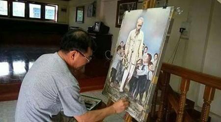 越裔泰国人画中的胡伯伯形象 hinh anh 1