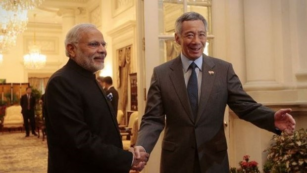 新加坡总理李显龙访问印度 hinh anh 1