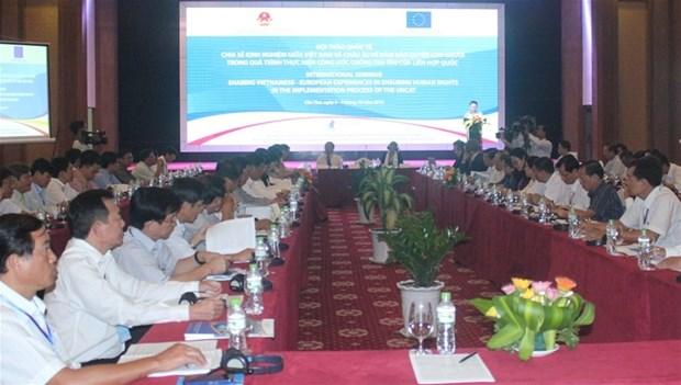越南与欧盟分享有关人权保护的经验 hinh anh 1