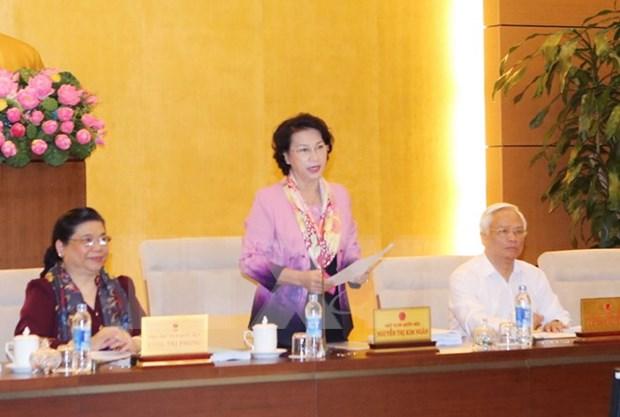 越南第十四届国会常务委员会第四次会议第一阶段会议新闻公报 hinh anh 1