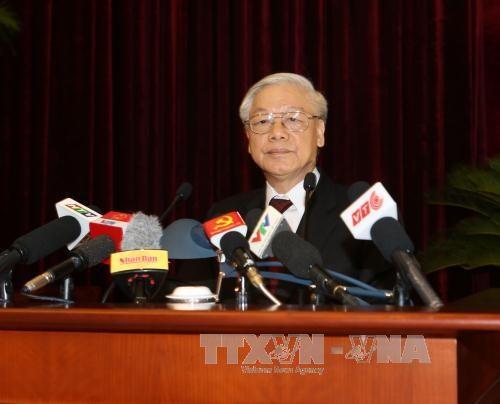 越共第十二届中央委员会第四次全体会议通过多项重要决议 hinh anh 1