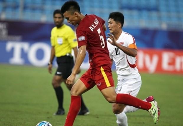 2016年亚足联U19青年锦标赛:越南队与阿联酋队以1比1握手言和 hinh anh 1