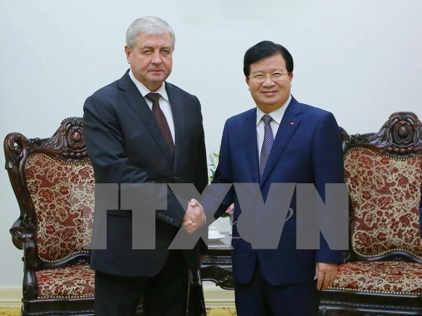 越南政府副总理郑廷勇会见白俄罗斯副总理谢马什科 hinh anh 1