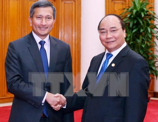 新加坡外长维文:希望新越进一步加强政治安全合作关系 hinh anh 1