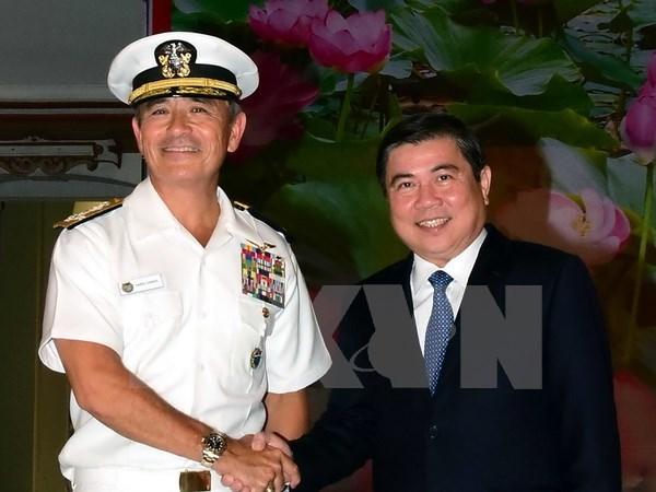 胡志明市领导人会见美国太平洋总司令部司令 hinh anh 1