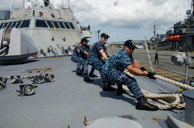 美柬举行2016年度海上联合军演 hinh anh 1