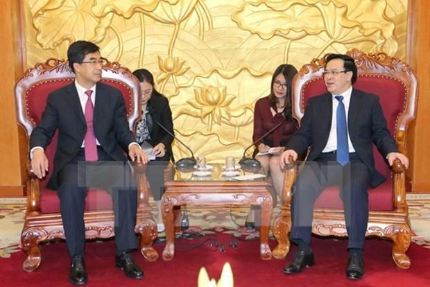 越共中央对外部部长会见中国共青团中央代表团 hinh anh 1