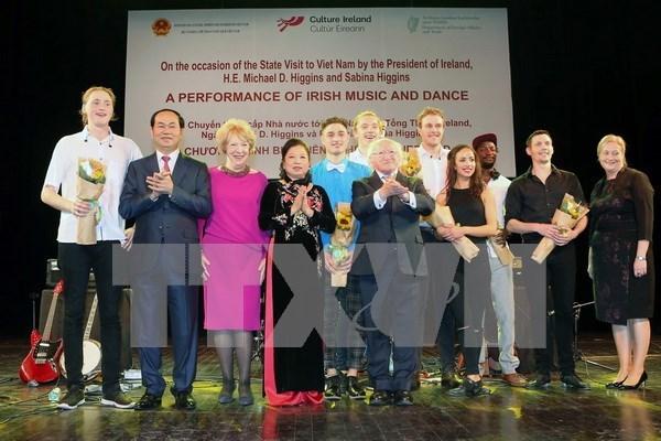 越南与爱尔兰建交20周年艺术表演晚会在河内举行 hinh anh 1