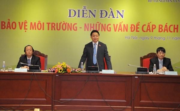 越南国会代表十分关注环境保护的紧迫性问题 hinh anh 1