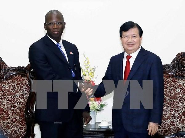 越南政府副总理郑廷勇会见世行驻越南首席代表 hinh anh 1